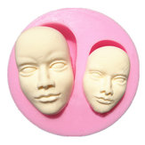 Human Face Silicone Fondant Mold Chocolate Polymer Clay Mould