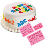Honana 3pcs Letters & Numbers Fondant Cake Moulds Zeep Chocolade Mould