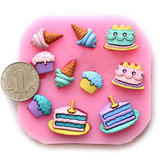 DIY Ice Cream Silicone Fondant Cake Mold Soap Chocolate Mold