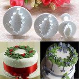 3X Weihnachtsstechpalmen Blatt Kuchen Plätzchen Scherblock Sugarcraft, Mold