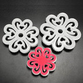 3Pcs Plum flower Fondant Cake Embosser Mold Cake Decorating Tools