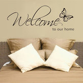 DIY Welcome to Our Home Removable Art Vinyl Decal Wall Stickers