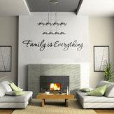 دي الأسرة هو كل شيء للإزالة ديكور المنزل الفن الفينيل اقتباس الحائط ملصقا