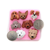 3D Cartoon Dogs Silicone Cake Mould Fondant Cake Decorating Tools