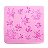 Christams Silicone Sneeuwvlokken Cake Mould Kerstmis Fondant Cake Decoratie Mould