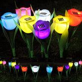 Garten Garten Rasen Solar Power LED Nachtlichter Tulip Flower Lamp