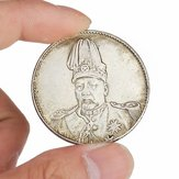 Top Hat Dragon Chinese Verzamel munten Oude China Yuan Shikai Coin Tibet Silver