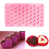 55 Holes Mini Heart Silicone Cake Muffin Chocolate Khuôn