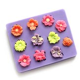 3D Flower Cake Mold Silicone 11 Holes Fondant Mould