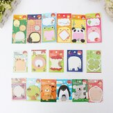 18 Tiermuster Sticky Note Memo Pad Mitteilungs Aufkleber