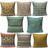 Estilo minimalista Almohada Caso Cojín de lino para el hogar Moda Colorful Patrones geométricos