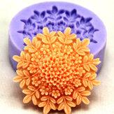 Flor de silicona jabón molde de pastel molde chocolate fondant f0127