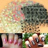 50 hoja de etiquetas engomadas del arte 3d estilos mixtos punta diseño de la flor calcomanía de uñas