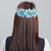 Boho Style Daisy Flower Floral Hair Garland Headbrand opaska do włosów