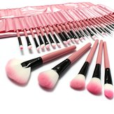 LuckyFine 32 stücke Make-Up Pinsel Set Professionelle Kosmetik Pinsel Set Rosa Lidschatten Augenbraue Erröten