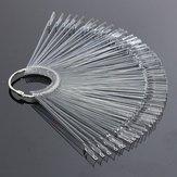 50PCS Transparant Afneembaar Nail Display Tool Vouwbare Fan Board