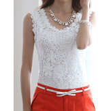 Floral Crochet Lace Tank Tops
