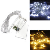 AA Batterij Mini 20 LED's Cool / Warm White Christmas String Fairy Lights