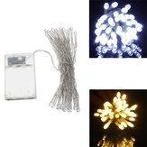 AA Batterij Mini 40 LED's Koele / Warme Witte Kerstmis String Fairy Lights