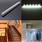 Draadloze PIR Motion Sensor 6 LED Batterij-aangedreven Kabinetlamp Home Stair Night Lamp