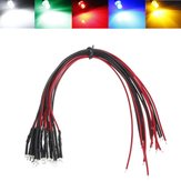 Bombilla LED 20cm Precableada 10mm 12V DC Colorful F10