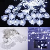 2M White 16 Hearts 104 LED String Fairy Holiday Lights Voor Party Xmas