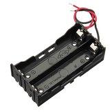 5st DIY DC 7.4V 2 slot dubbele serie 18650 batterijhouder batterijbox met 2 kabels