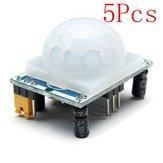 Módulo infrarrojo humano 5pcs hc-SR501 sensor que incluye la lente