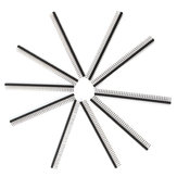 10pcs 40 Pin 2.54mm Single Row Pin Header Curved Needle For Arduino - products that work with official Arduino boards