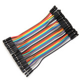 40pcs 10cm Female To Female Jumper Cable Dupont Wire For Arduino