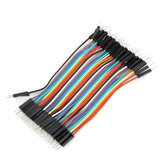 40pcs 10cm Male To Male Jumper Cable Dupont Wire For