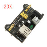 20Pcs MB102 Breadboard Module Adapter Shield 3.3V/5V Geekcreit for Arduino - products that work with official Arduino boards