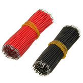 400pcs 6cm Breadboard Jumper Cable Dupont Wire Electronic Wires Black Red Color