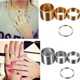 4pcs Gold Silver Circle Lord Knuckle Rings Masters Sun para mulheres
