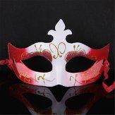 多色ハロウィーンの小道具ゴールドダストマスカレードマスク