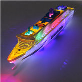 Ocean Liner Cruiseschip Boot Elektrisch speelgoed Flash LED-verlichting Geluiden Kids Christmas Gift