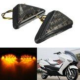 Moto incasso triangolo supporto universale ambra segnale di svolta a sinistra e LED luce giusta