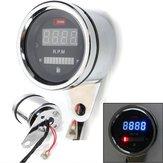 2 en 1 Moto LED Velocímetro digital Tacómetro Oil Indicador de combustible
