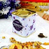 Europäische Weinlese-Blumen-Tee-Zinn-Kasten-Süßigkeit-Kasten-Hochzeits-Geschenk-Kasten-Behälter-Organisation