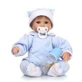 16 polegadas Reborn Baby DOLL Princess Dress Soft Silicone Realistic Boneca Baby Handmade Newborn Bonecas Toy