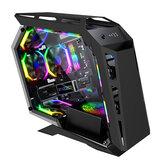 SAHARA MAGICSNAKE D900MiNi حافظة كمبيوتر للألعاب بشكل خاص لوحة شفافة جانبية أكريليك MICRO-ATX / ITX RGB كمبيوتر الكمبيوتر حافظة USB 3.0 / USB 2.0 / HDD / SSD للكمبيوتر المك