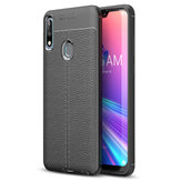 Bakeey Litchi Anti-fingerprint Silicone Protective Case for ASUS Zenfone Max Pro (M2) ZB631KL