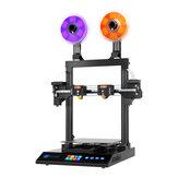 JGMaker® ArtistD Pro Kit de impresora 3D independiente de doble extrusora Tamaño de impresión de 300 * 300 * 340 mm con diversidad de doble extrusora / placa base ultra silenciosa / fuente de alimentación Meanwell