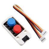 Miniinterruttoreadoppiopulsantecon cavo GROVE Connettore compatibile con kit micropiastra FIRE / M5GO ESP32 M5Stack® per Arduino - prodotti compatibili con schede Arduino ufficiali