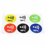 6шт Водонепроницаемые NFC Теги NTAG213 Чип RFID Клейкие наклейки этикетки для всех НФК мобильных телефонов