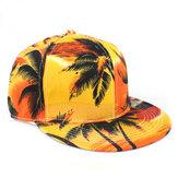 Coconut Tree Seaside Baseball Cap Flat Along Hip Hop Hat