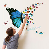 Honana DX-367 Colorful Butterfly Wall Sticker Removable Fridge Home Decor Bedroom Art Applique
