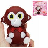 Monkey Squishy 10.5 * 9 * 7 CM Powolne Rising Miękkie Animal Collection Prezent Wystrój Zabawka Z Opakowaniem