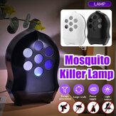 حفاز ضوئي كهربائي مكافحة البعوض القاتل مصباح علة الحشرات فخ ضوء ضد للماء الآفات مراقبة طارد DC5V