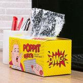 ورقة Poppit إزالة الضغط قطعة أثرية فقاعة ورقة المناديل الورقية تنفيس الضغط لعبة فقاعة فيلم